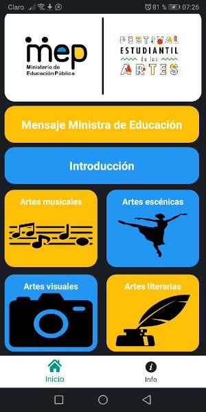Cartel sobre Festival Estudiantil de las Artes