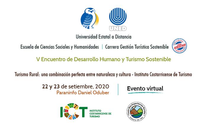 Anuncio sobre encuentro virtual de turismo rural